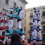 Castellers in action, Barcelona, Feb 2017