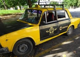 This cab, a 1970's Lada, was basically a spluttering wreck that barely went at all, but the driver was good natured and very determined and he took us to exactly where we needed to be