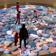 The interactive floor at Las Arenas, Barcelona