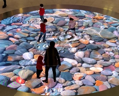 The interactive floor at Las Arenas, Barcelona