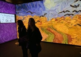 Entrance to the touring exhibition - Meet Vincent van Gogh