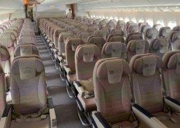 Empty seats on an Australia bound 777