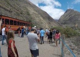 Selfie stop at the Devil's Nose, Ecuador